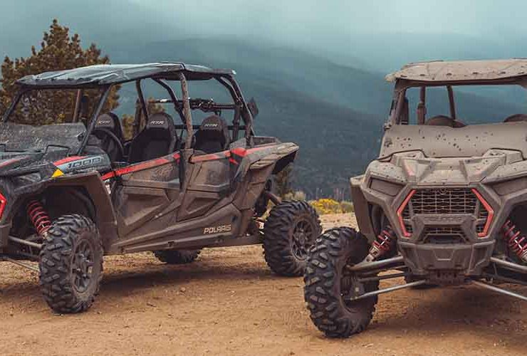 Dusty and dirty UTVs