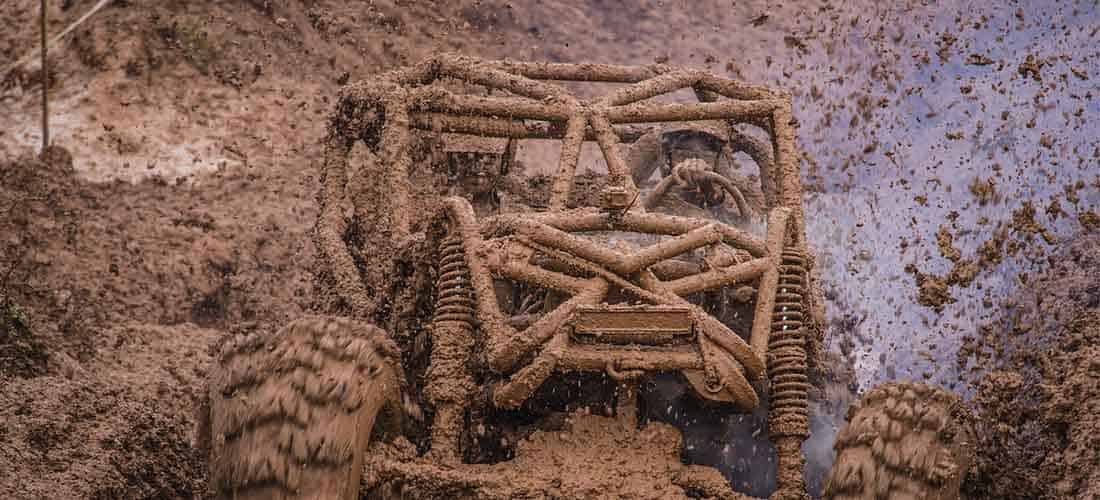 Mud riding with Side by Side UTV