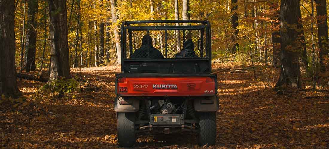 Kubota diesel UTV in the forest